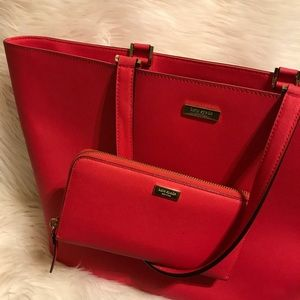 Nearly new Kate Spade Newbury Jules tote & wallet